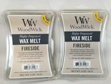 Woodwick Candle FIRESIDE by Yankee Highly Fragranced Scented Wax Melts Lot of 2