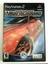 Need For Speed Underground Playstation 2 COMPLETE Black Label RARE EA Games Race
