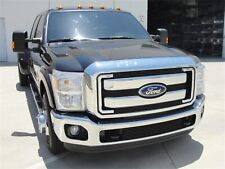 For 11-16 Ford F250 F350 F450 F550 Super Duty Black Aluminum Grille Overlay