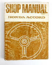 Honda Accord 2/1979 second edition  factory workshop manual