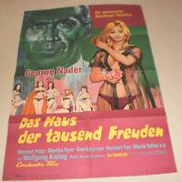 A1 Filmplakat ,DAS HAUS DER TAUSEND FREUDEN,GEORGE NADER,MARTHA HYER