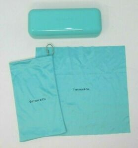 Tiffany & Co Blue Eyeglasses Case Pouch Cleaning Cloth - Sunglasses Hard Shell