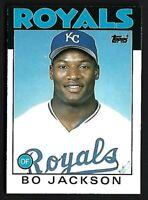 BO JACKSON 1986 Topps Traded #50T Baseball Card KANSAS CITY ROYALS