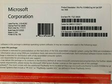 Microsoft Windows 10 PRO Professional 32 64 Bit DVD + Brand New Product Key