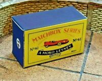 LESNEY MATCHBOX MOKO NO.41A JAGUAR 'D' TYPE 55mm  CUSTOM DISPLAY/STORAGE BOX
