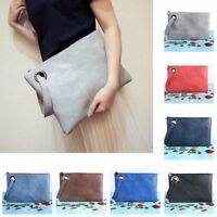 New Women Lady Leather Handbag Clutch Envelope Shoulder Evening Bag Purse Tote