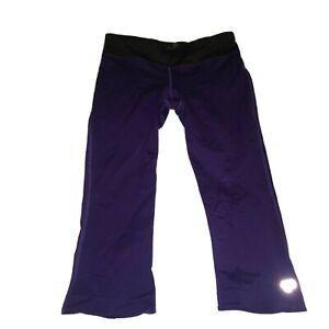 Pearl Izumi cycle capri pants women's large purple black no padding 21-2329