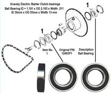 Gravely L Model Electric Starter Clutch Bearing Set P/N 12493P1 - 6006
