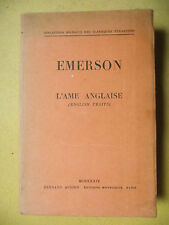 EMERSON L'AME ANGLAISE BILINGUE AUBIER MONTAIGNE TRADUCTION MAURICE LEBRETON