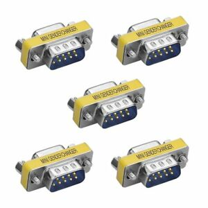 5 X 9Pin RS-232 DB9 Male to Female Serial Cable Gender Changer Coupler Adapter