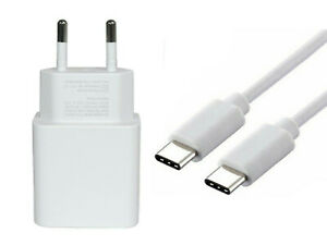GENUINE EU 2-Pin CHARGER TRAVEL ADAPTER +TYPE C to C CABLE for PIXEL 4 3 2 C XL