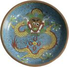 Antique Cloisonné plate with ornament of great design details around dragons