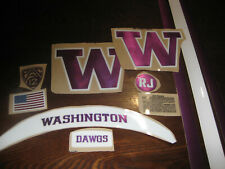 Washington Huskies full size football helmets 3M vinyl decals Purple Red