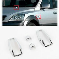 Exterior Chrome Washer Side Lamp Cover Trim K-332 for Kia Sorento 2003-2006