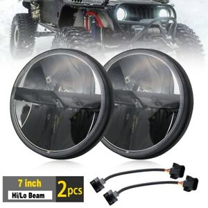 """7"""" Inch LED Headlight DRL Headlamp x2 E Approved Land Rover Defender 90 110 720"""