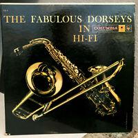 "THE FABULOUS DORSEYS IN HI-FI (CL-1150 Six Eye) - 12"" Vinyl Record LP - VG+"