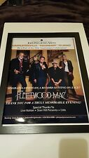 Fleetwood Mac Rare John Paul Jones Arena Virginia Concert Promo Poster Framed!