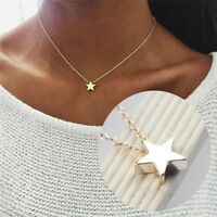 Star Pendant Necklace Collar Choker Chain Necklace Women Jewelry Accessory AB