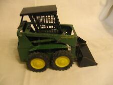 vintage Ertl John Deere vintage green farm tractor / loader metal