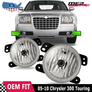 For Chrysler 300 05-11 Factory Replacement Fit Fog Lights Clear Lens OE Style