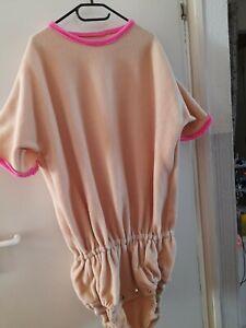 1Kuschligen Fleece Windel Body PVC unten innen von Pampersklausi Gr. M XL  AB/DL