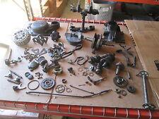 81 Yamaha XT250 Counter Balance Clutch Cover Triple Tree Crankshaft Parts Lot