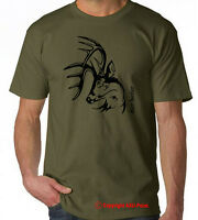 Deer Hunter T shirt  stag buck elk antler hunting S-XXL t shirt tee