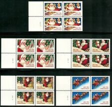 US 1991 - CHRISTMAS POSTAGE STAMP SET OF 5 UNFOLDED BOOKLET PANES MNH