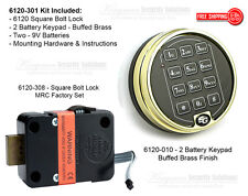 Sargent and Greenleaf S&G 6120-301 Electronic Keypad & Lock Kit - Buffed Brass