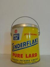 Vintage Maple Leaf Tenderflake Pure Lard tin pail, 5 LB Maple Leaf Tenderflake P