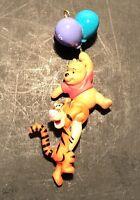 Winnie the Pooh & Tigger  Balloons 1996 Hallmark Miniature Ornament Disney Keep