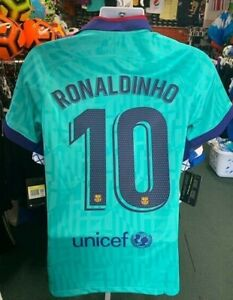 Nike Barcelona Third Jersey 19/20 Ronaldinho 10 Stadium Quality Soccer Jersey