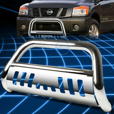 Chrome SS Front Bumper Bull Bar Grille Guard for 2004-2015 Nissan Titan/Armada