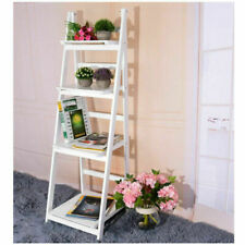 PANANA 4 Tier Flower Display Ladder Stand Storage Shelves Bookcase Flower Cafe