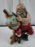 Christmas Figures Custom Santa Claus w/ Globe
