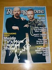 BREAKING BAD AUTHENTIC DUAL HAND SIGNED ROLLING STONE 8.5X11 *MUST SEE*