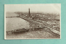 C1930'S RP POSTCARD BLACKPOOL FROM THE AIR LOOKING NORTH SAIDMAN BROS PHOTO