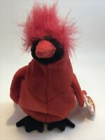 Ty Original Beanie Baby Mac The Cardinal Bird 1999 Retired New With Tags