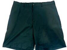 Pro Tour Size 40 Men's Golf Shorts Black Zipper Fly Pockets Flat Front Polyester