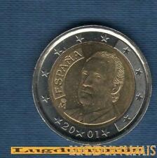 Pièces euro d'Espagne pour 2 Euro année 2001