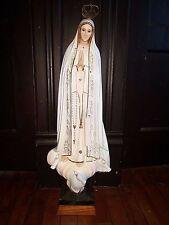 "29"" ANTIQUE LADY FATIMA STATUE FIGURINE RELIGIOUS RELIGION CHURCH ROMAN CATHOLIC"