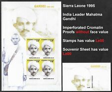 Sierra Leone 1998 MNH - Imperf Proof Without Face Value - India Mahatma Gandhi