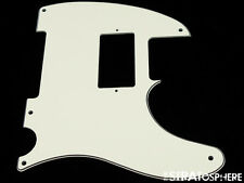 *NEW Parchment HUMBUCKER Telecaster PICKGUARD for USA Fender Tele 3 Ply 5 Hole
