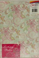 Gift Wrap 2 Sheets, 2 Tags * New *