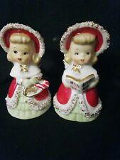 Vintage Lefton Christmas Girl Bells Lot Of 2