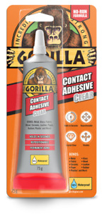 Gorilla Glue Contact Adhesive Crystal Clear Waterproof 75g
