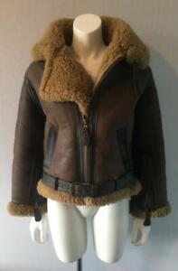 RAF Irvin Style Sheepskin Leather Flying Jacket