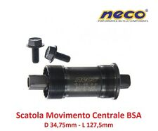 0195 Scatola Movimento Centrale NECO 127,5mm-BSA per bici 26-28 Fixed Scatto Fis