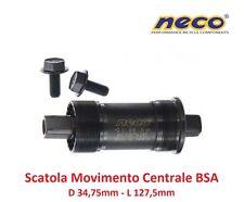 0195 Scatola Movimento Centrale NECO 127,5mm-BSA per bici 27,5-29 MTB Mountain B