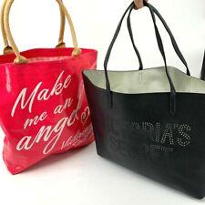 Lot 2- Victoria Secret Reusable Tote Hot Pink & Black Shopping Shoulder Hand Bag